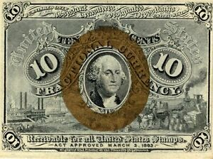 Fr. 1244 Series 1863 United States Ten Cents 10C Fractional Note