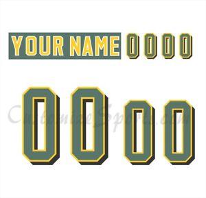 Edmonton Eskimos Football Number kit for White Jersey