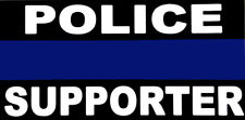 Wholesale Lot of 6 Police Thin Blue Line Supporter Bumper Sticker