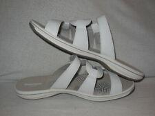 210d1ae5135 CLARKS Brinkley Lonna Slide Sandals Women s Size 12 M --White