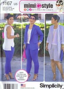 Simplicity 1167 Sewing Pattern Misses Jacket Top Pants Shorts MiMi G Style 16-24