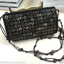 Women's Girl's Brown Handmade Coco Shell handbag Wallet Bag Evening Bag