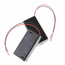 2 pcs New 3V 2 AA Battery Holder Case with ON/OFF Toggle Switch & Cover