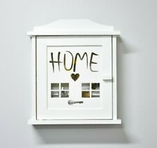 Wooden Key Box Organiser Holder Shelf Storage Wall Cabinet Home Office Hallway