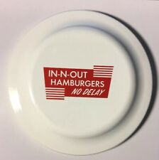 """In-N-Out Burger Frisbee, White Disc, Red Logo. Humphrey Flyer, 9"""" Disc."""