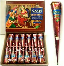 Best Quality Fresh Kaveri Natural Henna Mehndi Tattoo Cone Darkest Brown Colour