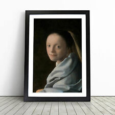More details for study of a young woman by johannes vermeer wall art framed print picture