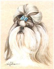 Shih Tzu Open Edition Art Print by USA Artist Barbara Walker