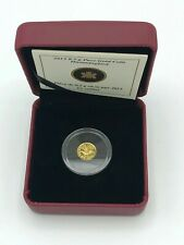🌟2013 Canada Hummingbird 25 Cents 0.5g PURE GOLD Proof Royal Canadian Mint Coin