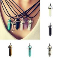 HOT Natural Crystal Quartz Stone Gemstone Pendant Women's Necklace Gift·Chic