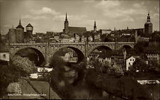 Bautzen Sachsen Oberlausitz 1930 Kronprinzenbrücke Brücke Friedensbrücke Bauwerk