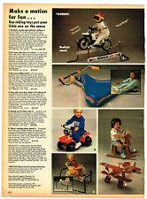 1989 AD TOYS, RIDING TOY YAMAHA MX ROLLER RACER TINY TRIKE MOO MOO JALOPY PLANE