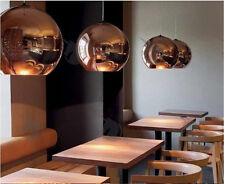 25CM Copper Mirror Glass Ball Shade Ceiling Light Pendant Lamp E27 Chandelier