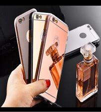 iPhone Case Schutz Hülle Bumper Handyhülle Cover Spiegel Mirror Luxus Glitzer