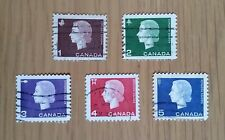 Complete used Canada stamp set - 1962 Queen Elizabeth II definitives