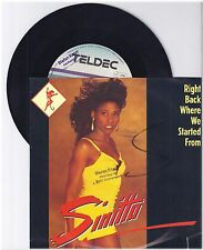 """Sinitta, Right back where we started from, G/VG  7"""" Single 999-382"""