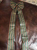 Longaberger Large Fabric Bow NEW Door Wreaths Imperial Stripe Paisley Christmas