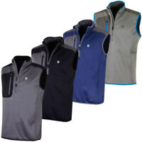 Island Green Mens 1/2 Zip Bonded Fleece Sleeveless Golf Vest Top 50% OFF RRP