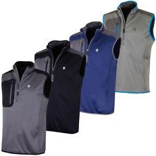 Island Green Mens 1/2 Zip Bonded Fleece Sleeveless Golf Vest Top 50% OFF RRP