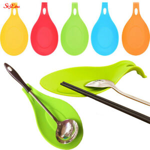 Spoon Rest Pad Multipurpose Pan Silicone Heat Resistant  Dishes Mat Home Kitchen