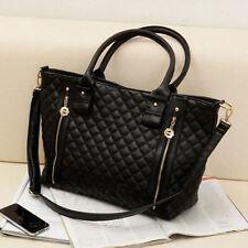 Women Ladies Celeb PU Leather Designer Shoulder Tote Bag Large Handbags Black AU