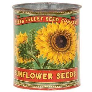 Green Valley Sunflower Seeds Metal Can