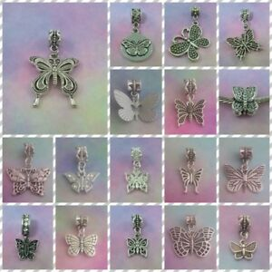 ❤ Butterfly Silver Style Charms ❤ FOR CHARM BRACELETS ❤