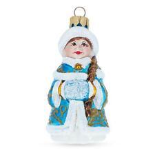 Snigurochka Mouth Blown Glass Christmas Ornament