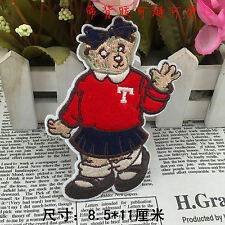 Sew on & iron on  patches(Red School Girl Teddy)