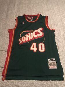 NWT Shawn Kemp Seattle Super Sonics Green Throwback Jersey NBA Mitchell & Ness