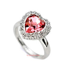 Anello Donna Cristallo Swarovski elements 17# cuore rosa N87