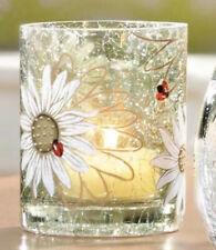 Yankee Candle Lady Bug Daisy Crackle Votive Tea Light Candle Holder CYLINDER