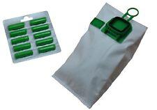 6 Microvliesbeutel + 6 Duftblocks geeignet für Vorwerk Kobold 140 150