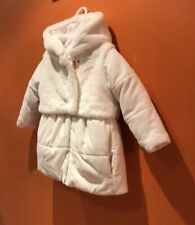 NEW Emporio Armani  Hooded Padded  White Jacket  Coat Sz 24M