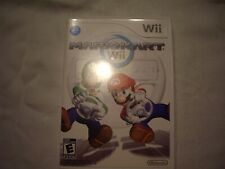 WII MARIOKART CASE & INSTRUCTIONS ONLY – NO GAME