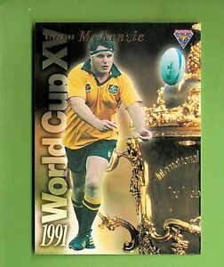 1995 AUSTRALIAN RUGBY UNION CARD - WC3  EWEN  McKENZIE #0221