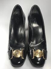 Gucci Hysteria Black Patent Leather Pumps High Heels Classic Shoe 6.5 B
