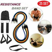 25 Set/Lot wholesale Resistance Band Set Yoga Pilates Abs Exercise Fitness bands