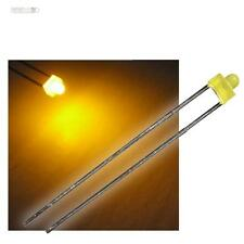 10 LEDs 1,8Mm Diffusion Yellow in the Set with Series Resistor Diffuse LED Jaun