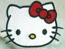 Iron On/ Sew On Embroidered Patch Badge Hello Cat Face Emblem Logo