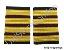 Epaulette 4x1/2 Gold with Maroon Bar Engineer Pilot Captain R153