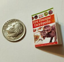 Miniature Dollhouse Action Figure  book Barbie 1/12 Scale Dinosaur Book 3