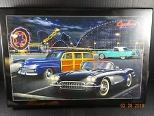 Classic Cars Helen Flint Framed w/ Pressed Wood Wall Hanging Print