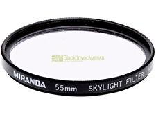 55mm. filtro skylight Miranda. Skylight filter.