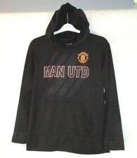 Manchester United Soccer Futbal Men Jacket Hoodie Sweatshirt Sz L Black CB24M
