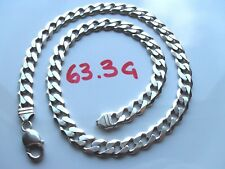Mens or Ladies Solid Sterling Silver Curb Chain Guaranteed 925 Silver Not Scrap