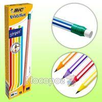 BIC Pencils with Eraser Office School Craft Art Drawing Break-Resistant PK12