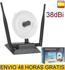Antena Wifi Adaptador USB 38dBi SIGNAL KING Largo alcance 2 Antenas