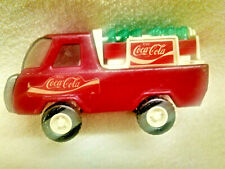 Buddy L COCA COLA Metal Delivery Truck with 2 cases Coke Bottles VINTAGE *