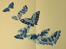 "KAMISAKA SEKKA "" A THOUSAND BUTTERFLIES "" WOODBLOCK PRINTS 2 BOOKS 50 DESIGNS"